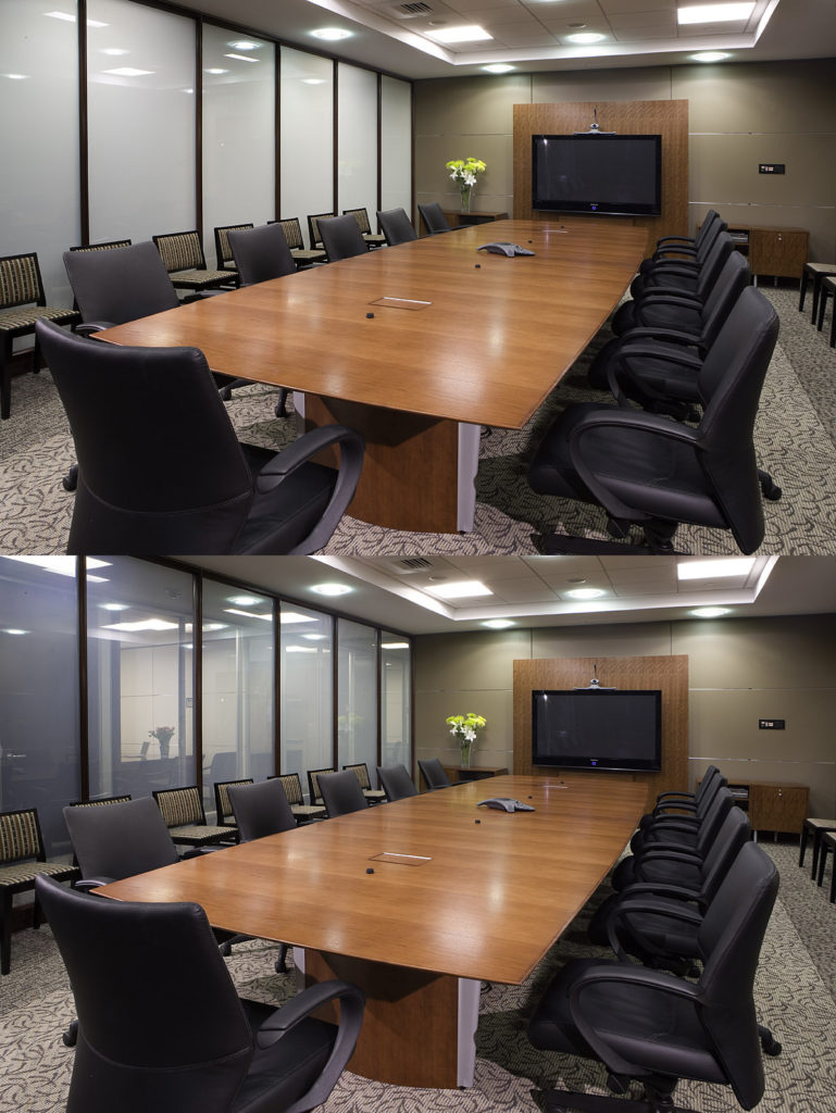 vitrage intelligent opacite controlee salle reunion