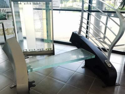 escalier en verre moderne design