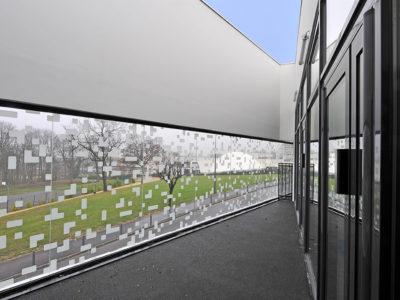 facade en verre sur mesure impression image