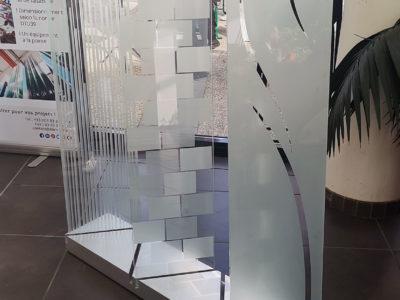 verre sable imprime decoratif