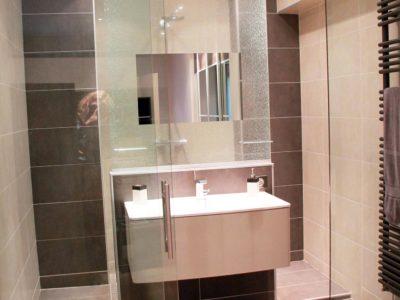 cloison en verre pour salle de bain