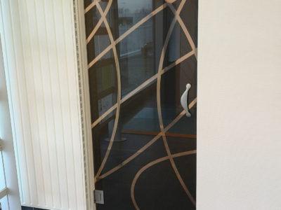 porte en verre decoratif