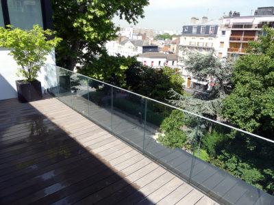 rambarde en verre pour balcon