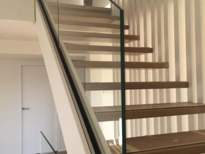 rampant escalier tout verre
