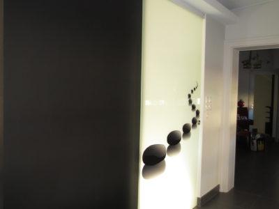 installation porte coulissante en verre
