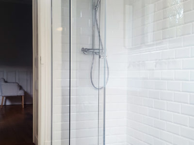 pare douche en verre coulissant installation fourniture