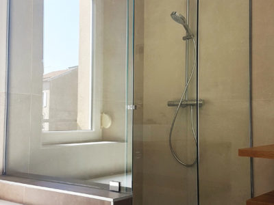 pose vitrages paroi de douche