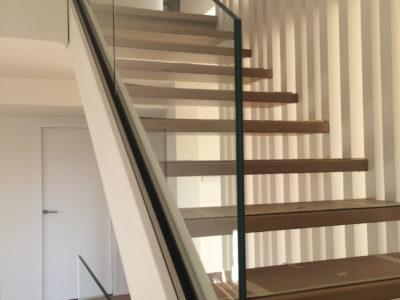 rampe escalier verre sur mesure