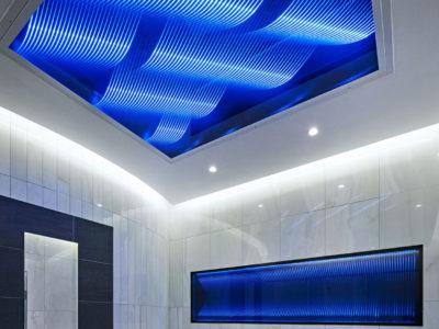 plafond lumineux en verre leds