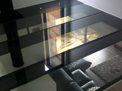 plancher en verre interieur
