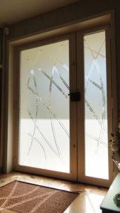 Porte vitrée en verre