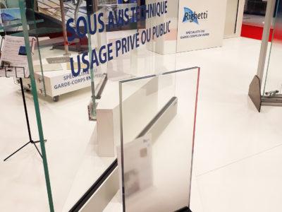 garde corps en verre sur profil