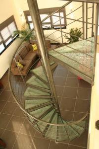 Escalier en verre feuilleté Crash