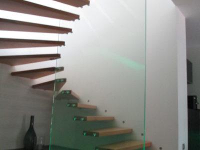 Garde-corps en verre moderne