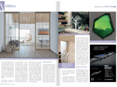 verre decoratif innovant publication magazine
