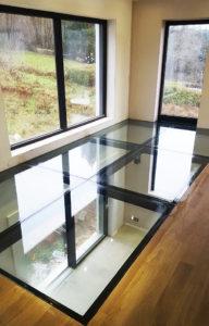 Dalle de sol en verre pour habitation privée