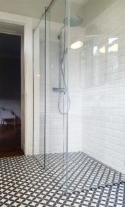 Paroi de douche en verre trempé