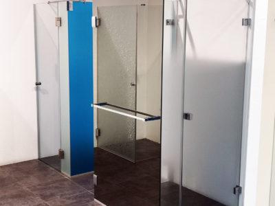 parois de douche en verre trempe design