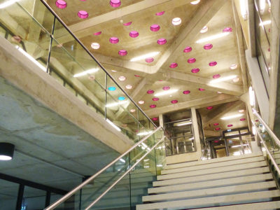 rampe escalier en verre feuillete securit