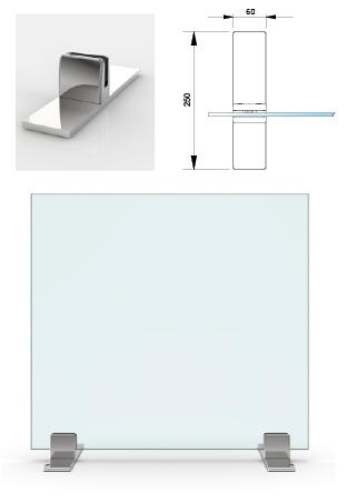 Protections en verre sur pinces avec support stabilisateur