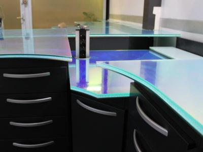 Bureaux en verre feuilleté décoratif