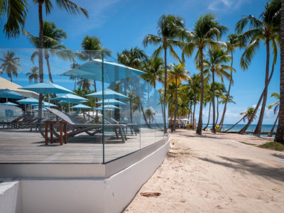 Garde-corps en verre résistant à l'humidité