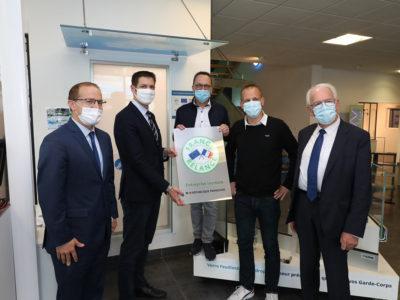 Miroiterie Righetti reçoit des élus au sein de ses locaux