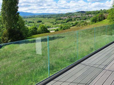 Rambarde en verre pour terrasse
