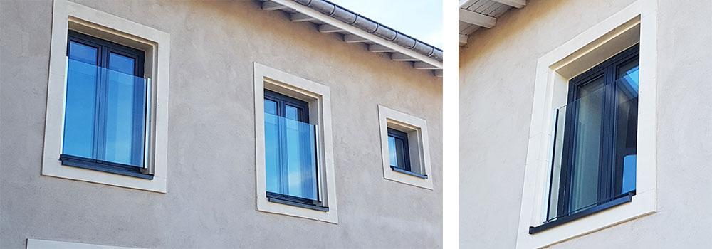 Garde-Corps en Verre pour sécuriser fenêtres et balcons à la française.